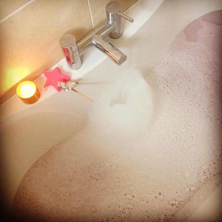 Christmas eve bubble bath.JPG